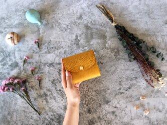 アラスカ_イエロー◆外装◆こども財布◆三つ折りの画像