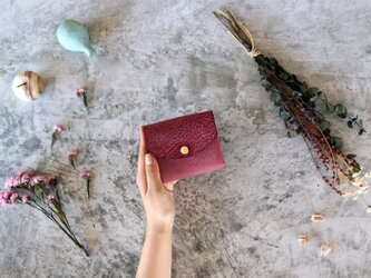 アラスカ_パープル◆外装◆こども財布◆三つ折りの画像