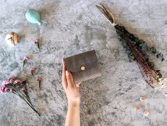 アラスカ_グレー◆外装◆こども財布◆三つ折りの画像