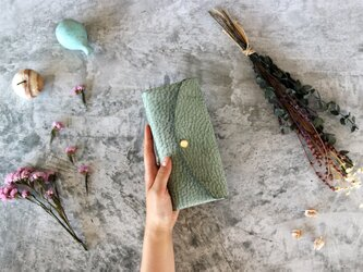 アラスカ_グリーン◆外装◆おとな財布◆三つ折りの画像