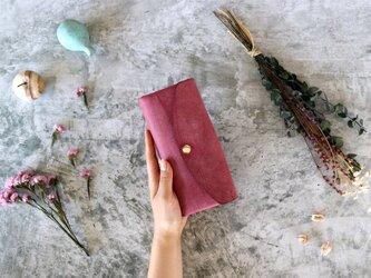 アラスカ_パープル◆外装◆おとな財布◆三つ折りの画像