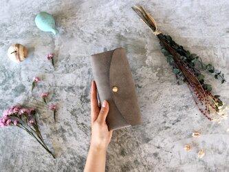 アラスカ_グレー◆外装◆おとな財布◆三つ折りの画像