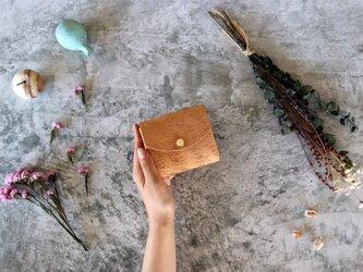 リッシオ_キャメル◆外装◆こども財布◆三つ折りの画像