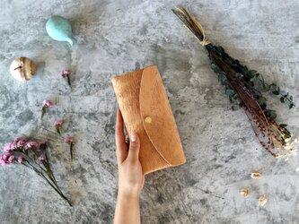 リッシオ_キャメル◆外装◆おとな財布◆三つ折りの画像