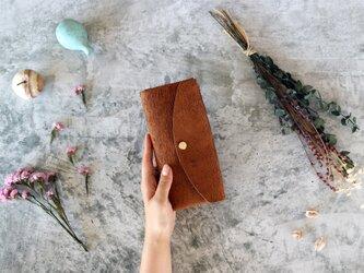 リッシオ_ダークブラウン◆外装◆おとな財布◆三つ折りの画像