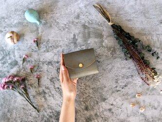 テイスト_グレー◆外装◆こども財布◆三つ折りの画像