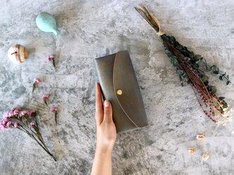 テイスト_グレー◆外装◆おとな財布◆三つ折りの画像