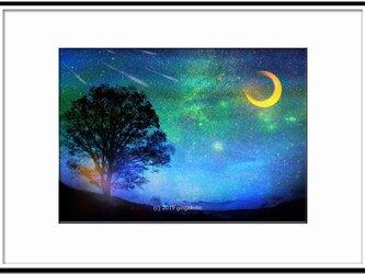 「天翔る星祭」 ほっこり癒しのイラストA4サイズポスターNo.671の画像