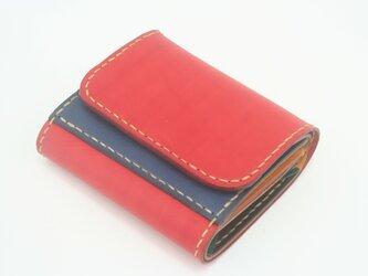 ♪レザー ミニマルウォレット 小さい財布 ボタン留め マルチカラー♪の画像