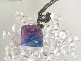 宇宙産蛍石のネックレス Lの画像