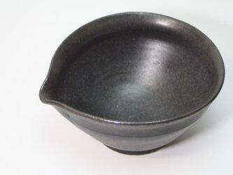 黒マットの片口小鉢   J603の画像