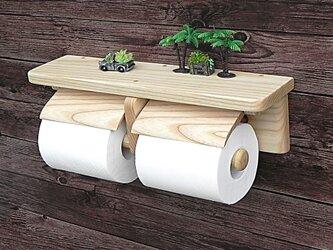 木製トイレットペーパーホルダーVer.13(ホワイトアッシュ無垢材)の画像