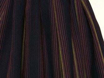 古布木綿着物リメイク:タックスカートの画像