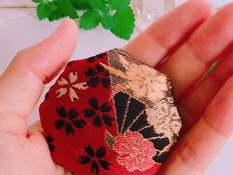 祈りの匂い袋 香りむすび 八角香  赤  扇の画像