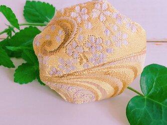 祈りの匂い袋〜香りむすび〜 八角香 玉子色 桜流水紋の画像