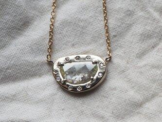 スライスダイヤモンドネックレスの画像
