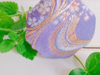祈りの匂い袋 香りむすび 八角香 藤紫 桜流水紋の画像