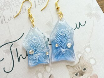 Blue Fish Earringsピアスの画像