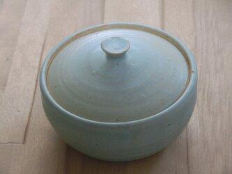 青マットフタもの容器の画像