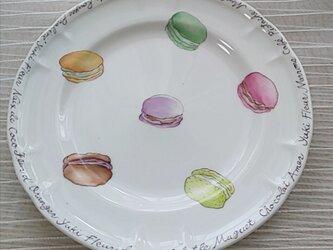※絵付け作品(マカロンの皿)※の画像