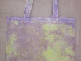 タイダイ染め むらさきとイエローのステキカラートートバッグ NO.6の画像
