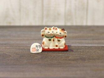 【小】福々招き猫ペアの画像