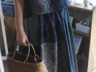 M様専用 結城紬とリメイク大島紬のセットアップの画像