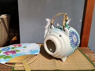 蚊取り豚 <花柄2>の画像