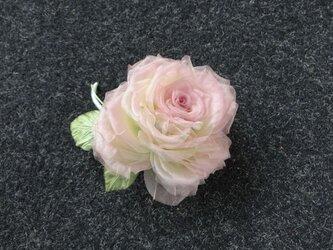 ちょっと色っぽい巻き薔薇 * シルクオーガンジー製 *コサージュの画像