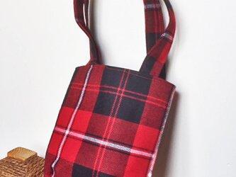 タータンチェックのお散歩バッグ【Cunninghum】の画像