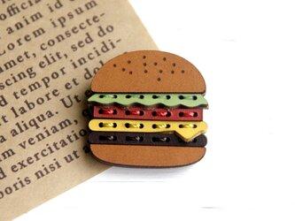 ハンバーガーのピンズの画像