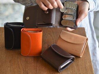 【カラーオーダー】ブッテーロ 手のひらサイズの小さなコインキャッチャー付き財布 ミニウォレットの画像