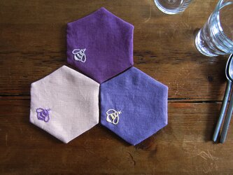 [honeycomb] linen coaster setの画像