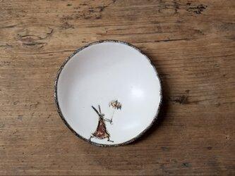 小皿no.33 ウサギ(かさ)の画像