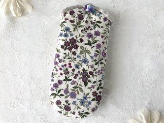 小花柄メガネケース の画像