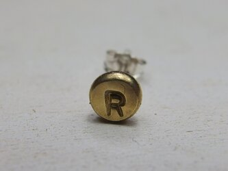 真鍮刻印ピアス【brass】の画像