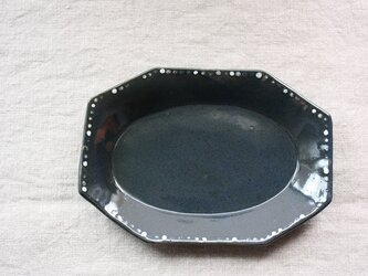 水玉長角皿の画像