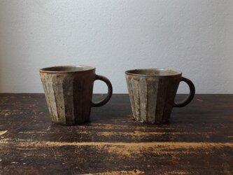 さび粉引き面取りマグカップ の画像