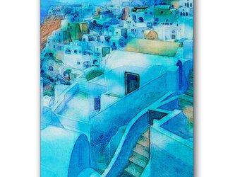「プロムナード物語」  ほっこり癒しのイラストポストカード2枚組   No.793の画像