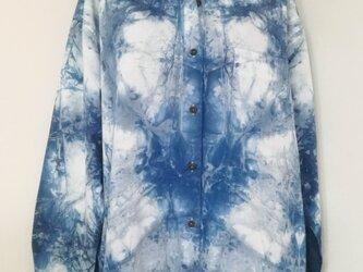 藍染 シャツ・ブラウス コットン100% LL no.1の画像