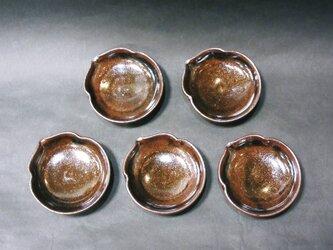 ひょうたん豆皿(天目)の画像