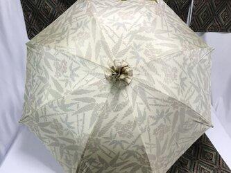 日傘 de 白大島紬 笹の画像