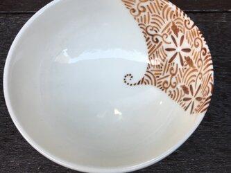 ご飯茶碗 赤茶の画像
