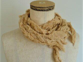 リボン・リ・ボーン 綿ガーゼのストール 小豆染の画像