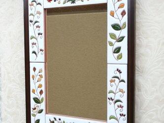 ウォールミラー 小鳥の鏡 スペインタイルの画像
