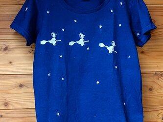 魔女の藍染Tシャツの画像