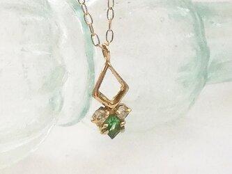 グリューン K18xグリーンガーネット・ダイヤモンドの画像