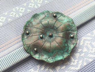 銅製帯留「荷葉」【hw62】の画像