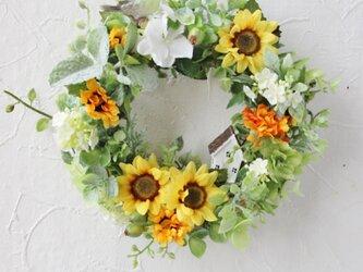 humming wreath(小鳥とひまわり)の画像
