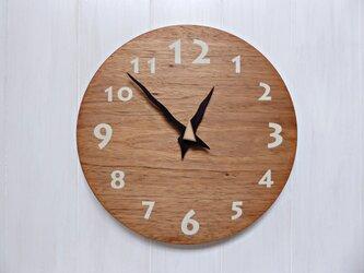 クルミの時計 30センチ 032s 文字盤白色の画像